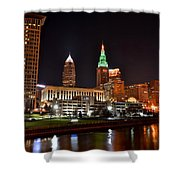 A Cleveland Night Shower Curtain
