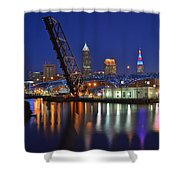 A Cleveland Ohio Evening On The River Shower Curtain