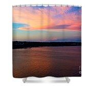 A Cloudy Stork Shower Curtain