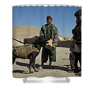 A Coalition Forces Military Working Dog Shower Curtain
