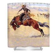 A Cold Morning On The Range  Shower Curtain