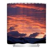 A Colorado Sunrise Shower Curtain