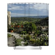 A Commanding View Shower Curtain