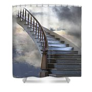 A Composite Entitled Staircase Shower Curtain by Robert Bartow