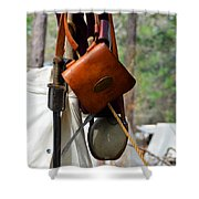 A Confederate Soldiers Life Shower Curtain