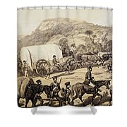 A Convoy Of Wagons Shower Curtain
