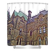 A Corner Of Parliament Building In Ottawa-on Shower Curtain