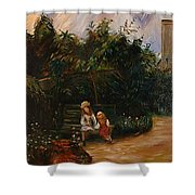 A Corner Of The Garden At The Hermitage Shower Curtain