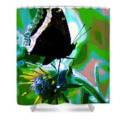 A Cosmic Butterfly Shower Curtain