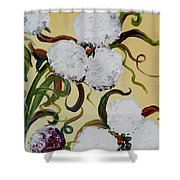 A Cotton Pickin' Couple Shower Curtain