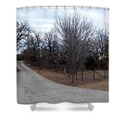 A Country Driveway Near The Brazos River Shower Curtain