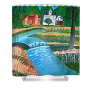 A Country Stream Shower Curtain