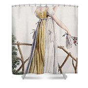 A Country Style Ladies Dress Shower Curtain