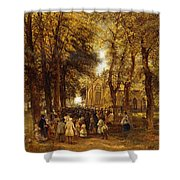 A Country Wedding Shower Curtain by Charles Thomas Burt