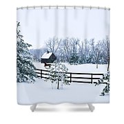 A Country Winter Shower Curtain