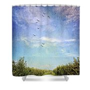 A Couples Retreat Shower Curtain