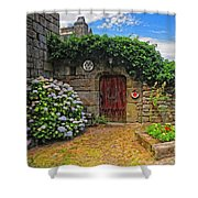 A Courtyard In Brittany France Shower Curtain