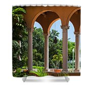 A Covered Walkway At The Biltmore Shower Curtain