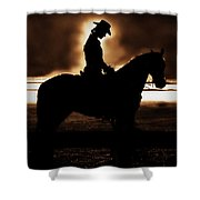 A Cowgirls Prayer Evening Ride Shower Curtain