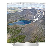 A Crater Lake From The Seaplane In Katmai National Preserve-alaska  Shower Curtain