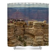 A Crowd And A Canyon Shower Curtain