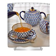 A Cup Of Tea Shower Curtain by Louise Heusinkveld