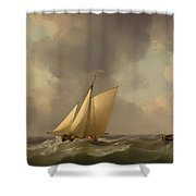 A Cutter In A Strong Breeze Shower Curtain