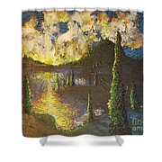 A Cypress Congregation Shower Curtain