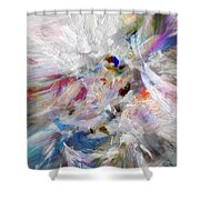 A Dance With Paint Shower Curtain