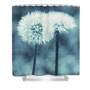 A Dandy In Blue Shower Curtain