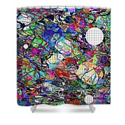 A Dash Of Abstract Imagery Shower Curtain