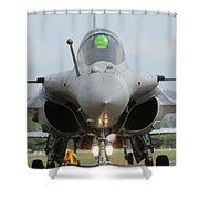 A Dassault Rafale Fighter Aircraft Shower Curtain