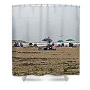 A Day At Popham Beach Shower Curtain