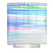 A Day At The Beach Pastels Shower Curtain
