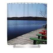 A Day At The Cottage Shower Curtain