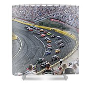 A Day At The Racetrack Shower Curtain