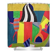 A Day At The Zoo, 1992 Shower Curtain