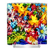 A Day In Spring Shower Curtain