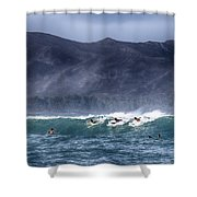 A Day In The Surf V3 Shower Curtain