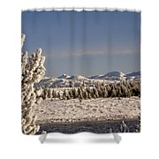 A Day Of Winter Shower Curtain