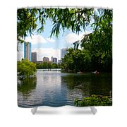 A Day On Ladybird Lake Shower Curtain