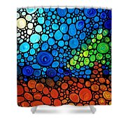A Day To Remember - Mosaic Landscape By Sharon Cummings Shower Curtain