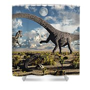 A Deadly Confrontation Shower Curtain