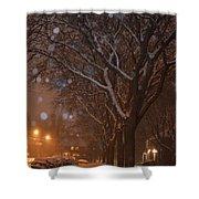 A December Night Shower Curtain