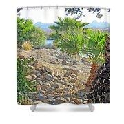 A Desert Landscape Shower Curtain
