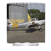 A Dhc-1 Chipmunk Trainer Aircraft Shower Curtain