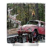 A Difference Sleigh  Shower Curtain