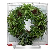A Different Christmas Wreath Shower Curtain
