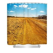 A Dirt Road In The Desert Shower Curtain