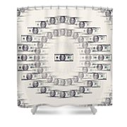 A Dizzying Amount Of Money Shower Curtain